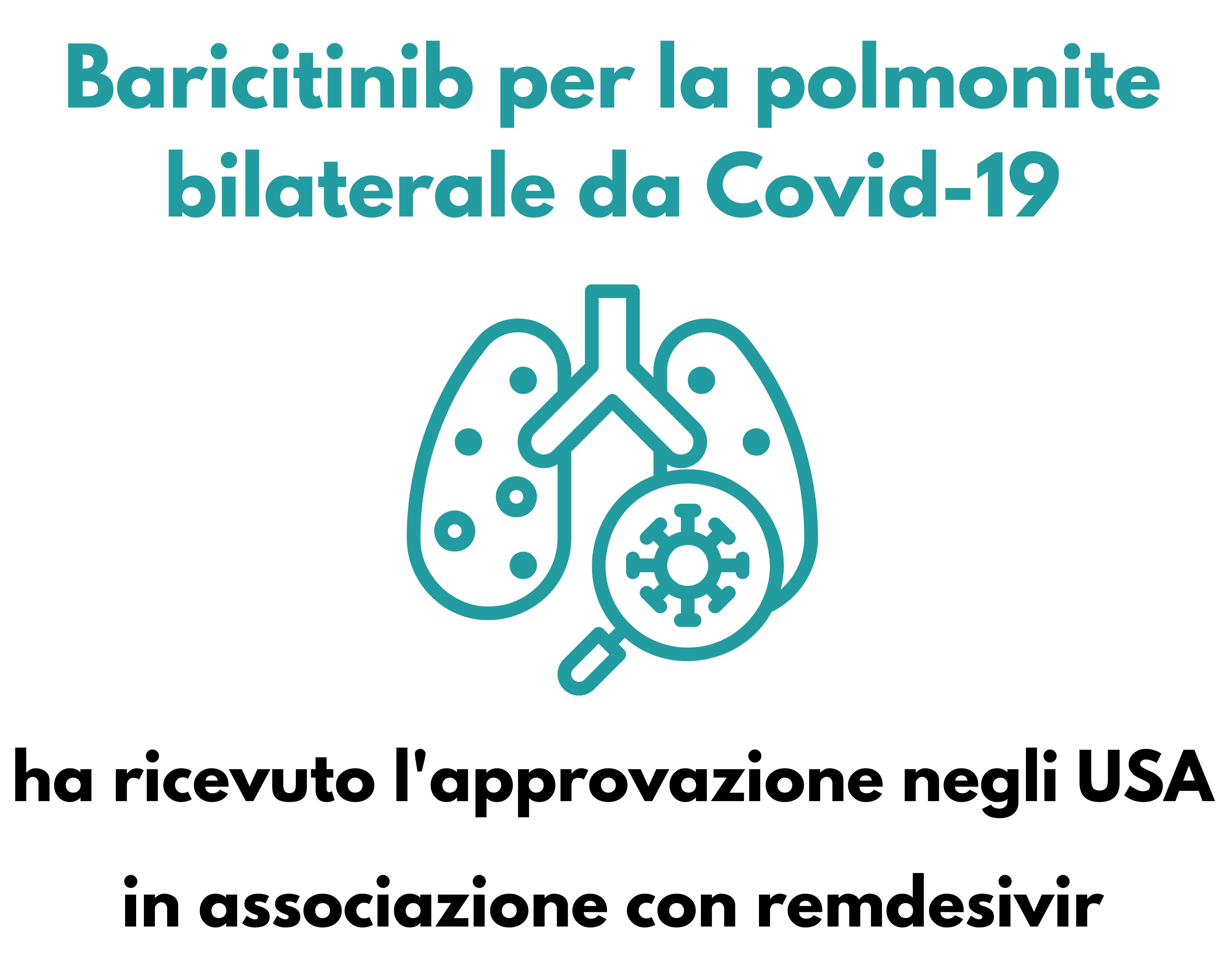 Baricitinib per la polmonite bilaterale da Covid-19